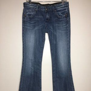 Rerock for Express Distressed Dark Denim Jeans